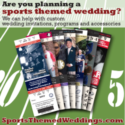 Sports Themed Weddings - Ad