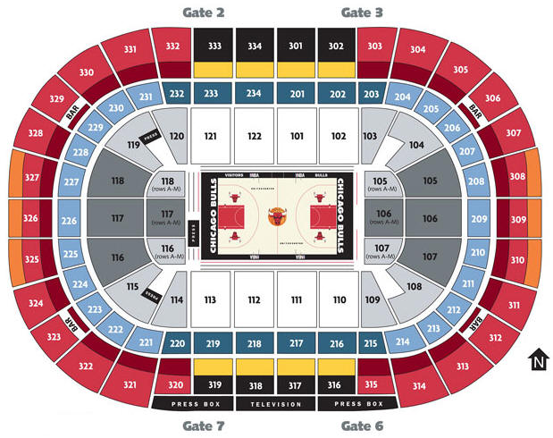 Chicago Bulls United Center Seating Chart