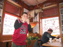 Cheezborgers at the Billy Goat Tavern - Roundball RoadTril