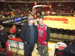 Hans Steiniger at the United Center - Roundball RoadTrip