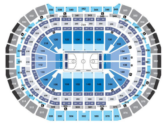 Pepsi Center Seating Chart - Denver Nuggets
