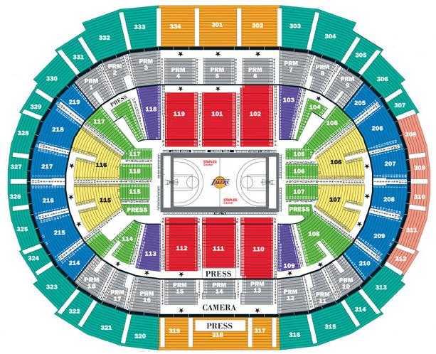 LA Lakers Seating Chart
