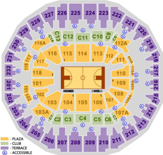 Memephis Grizzlies Seating Chart - FedExForum