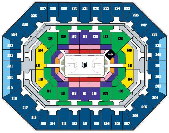 Timberwolves Seating Chart 2015 Target Center Seating