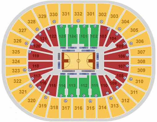 New Orleans Arena Seating Chart - New Orleans Hornets