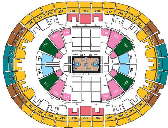 Nba basketball arenas orlando magic home arena amway center