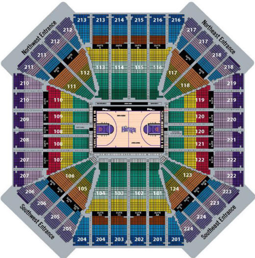 Nba Basketball Arenas Sacremento Kings Home Arena Arco Arena