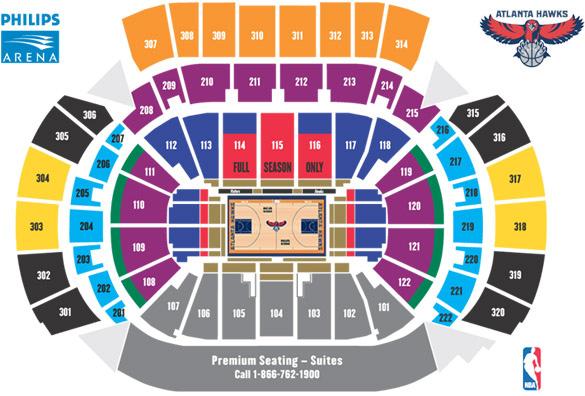 Nba Basketball Arenas Atlanta Hawks Arena Philips