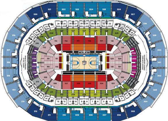 Nba Basketball Arenas Oklahoma City Thunder Home Arena Oklahoma