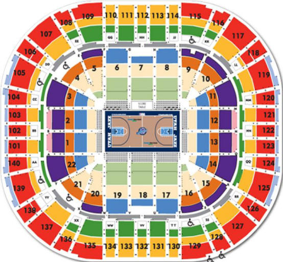 Energysolutions Arena Seating Chart Utah Jazz